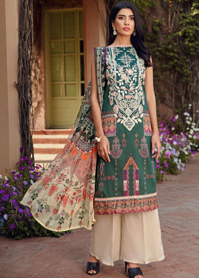 Umang by Motifz Embroidered Lawn Suits Unstitched 3 Piece MT21-LU2 2900 Arcadia - Summer Collection