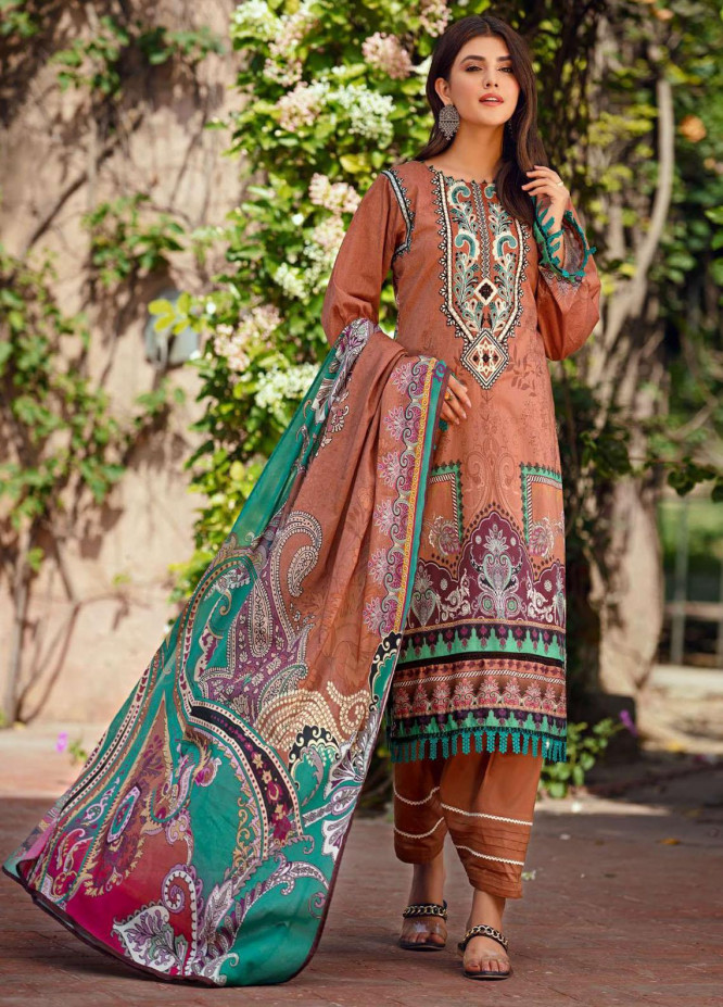 Umang by Motifz Embroidered Lawn Suits Unstitched 3 Piece MT21-LU2 2902 Gisella - Summer Collection