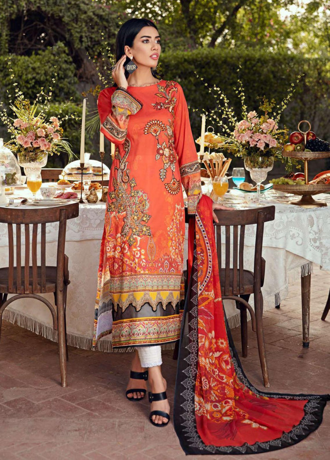 Umang by Motifz Embroidered Lawn Suits Unstitched 3 Piece MT21-LU2 2903 Limogcs - Summer Collection
