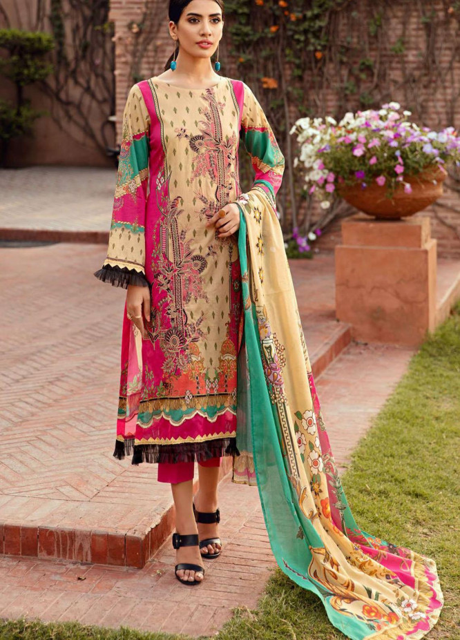 Umang by Motifz Embroidered Lawn Suits Unstitched 3 Piece MT21-LU2 2905 Aurora - Summer Collection