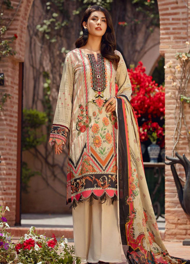 Umang by Motifz Embroidered Lawn Suits Unstitched 3 Piece MT21-LU2 2909 Sansare - Summer Collection