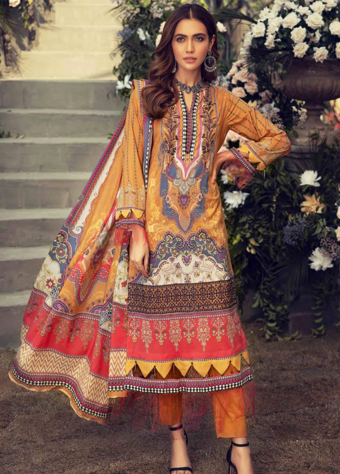 Umang by Motifz Embroidered Lawn Suits Unstitched 3 Piece MT21LU 2813 Ethnic Play - Summer Collection