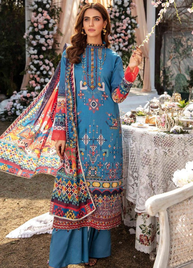 Umang by Motifz Embroidered Lawn Suits Unstitched 3 Piece MT21LU 2818 Tribal Fantasy - Summer Collection