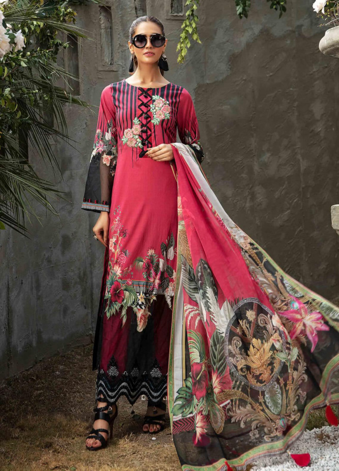 Umang by Motifz Embroidered Lawn Suits Unstitched 3 Piece MT21LU 2827 Tropical Bloom - Summer Collection
