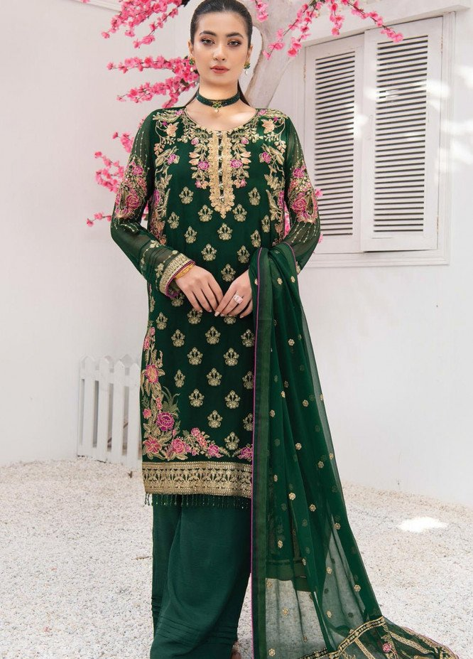 Umang by Blanche Fashion Embroidered Chiffon Unstitched 3 Piece Suit BLF21U 05 NOVA - Luxury Collection