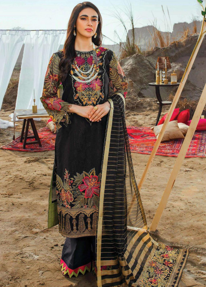 Uns-e-Baharan by Serene Premium Embroidered Jacquard Suits Unstitched 3 Piece SP21UB SL-12 GUMAAN - Summer Collection
