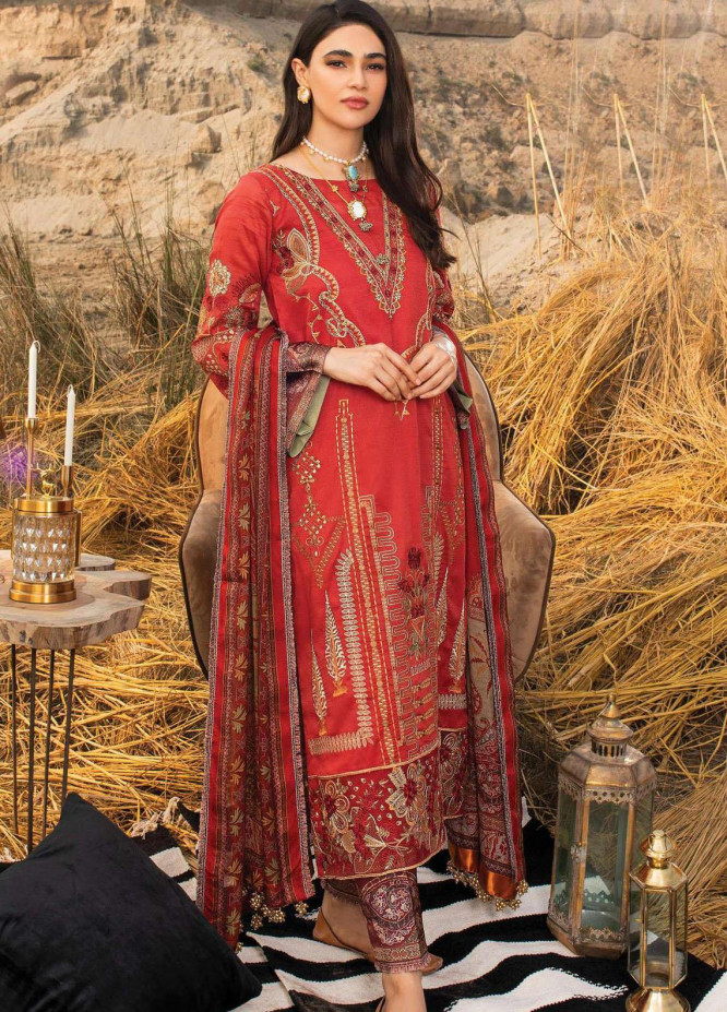 Uns-e-Baharan by Serene Premium Embroidered Lawn Suits Unstitched 3 Piece SP21UB SL-13 GULFAM - Summer Collection