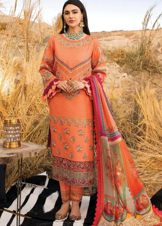 Uns-e-Baharan by Serene Premium Embroidered Lawn Suits Unstitched 3 Piece SP21UB SL-20 GHAZAL - Summer Collection
