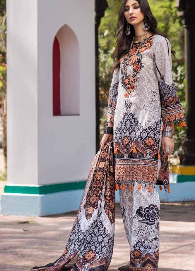 Virsa by Mohagni Embroidered Lawn Unstitched 3 Piece Suit MO20V-07 - Spring / Summer Collection