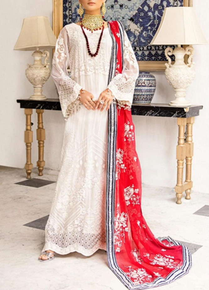 Virsa by Mohagni Embroidered Chiffon Suits Unstitched 3 Piece MO21V MGA-21-10B - Luxury Collection