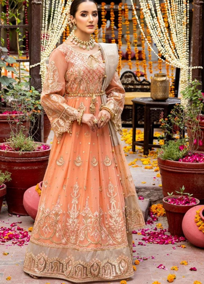 Virsa by Mohagni Embroidered Chiffon Suits Unstitched 3 Piece MO21V MGA-21-20 - Luxury Collection