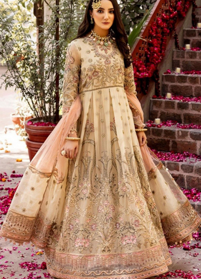 Virsa by Mohagni Embroidered Chiffon Suits Unstitched 3 Piece MO21V MGA-21-24 - Luxury Collection