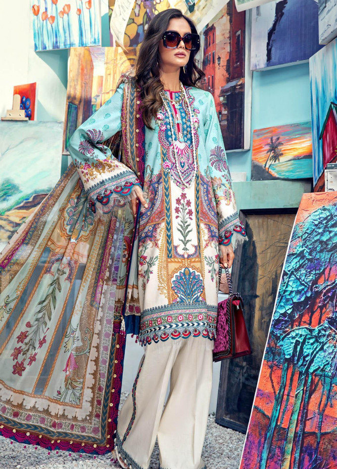 Anaya By Kiran Chaudhry Embroidered Lawn Suits Unstitched 3 Piece AK21VL VL21-04-A ALICE - Summer Collection