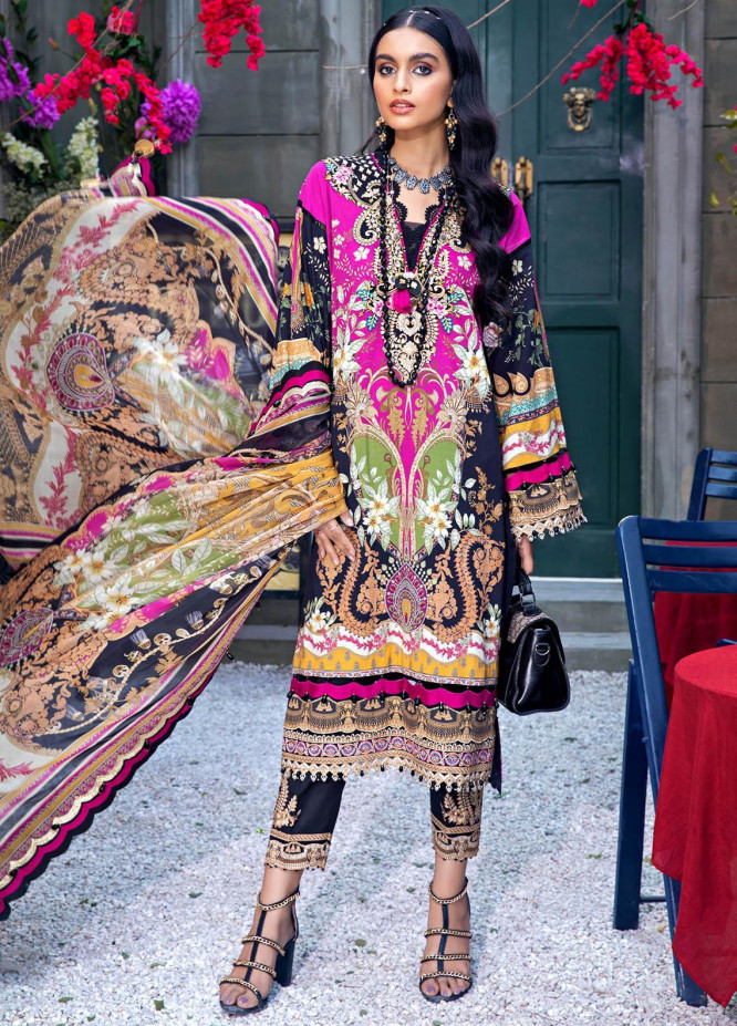 Anaya By Kiran Chaudhry Embroidered Lawn Suits Unstitched 3 Piece AK21VL VL21-05-B VERA - Summer Collection