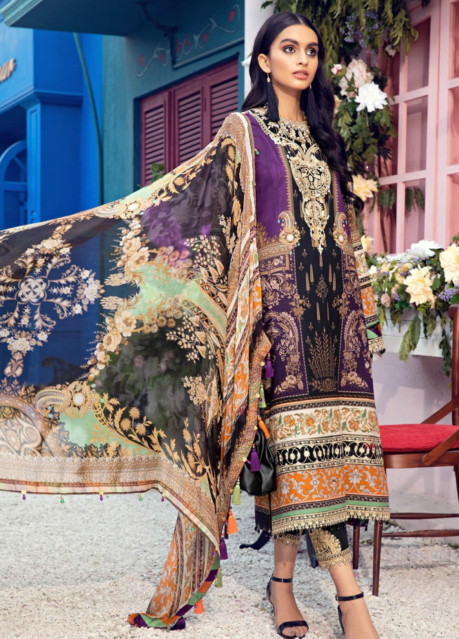 Anaya By Kiran Chaudhry Embroidered Lawn Suits Unstitched 3 Piece AK21VL VL21-07-B MARCIA - Summer Collection
