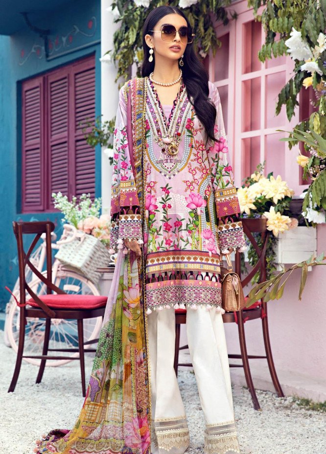 Anaya By Kiran Chaudhry Embroidered Lawn Suits Unstitched 3 Piece AK21VL VL21-08-B LEENA - Summer Collection