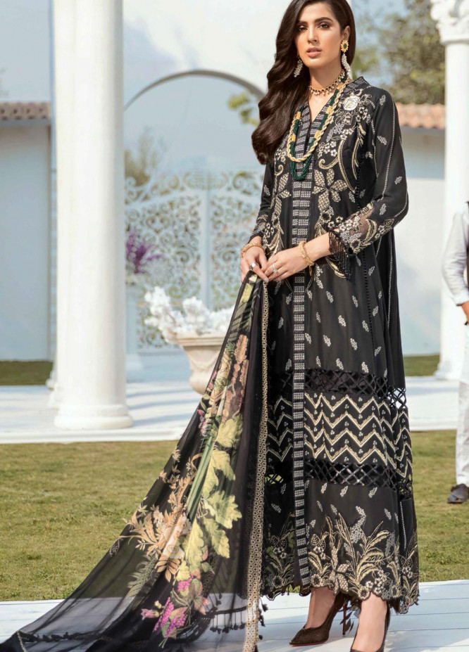 Vogue by Emaan Adeel Embroidered Lawn Suits Unstitched 3 Piece EA21VF 04 AARK ARTS - Festive Collection
