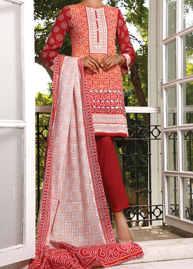 VS Textiles Printed Lawn Suits Unstitched 3 Piece VS21S 2606B - Summer Collection