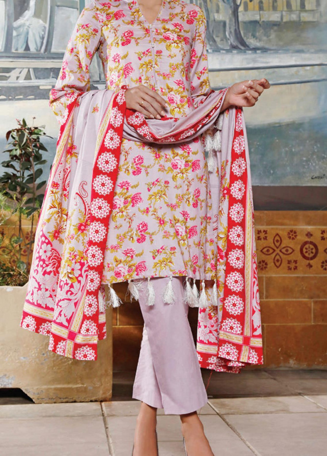VS Textiles Printed Lawn Suits Unstitched 3 Piece VS21S-2 2610-A - Summer Collection