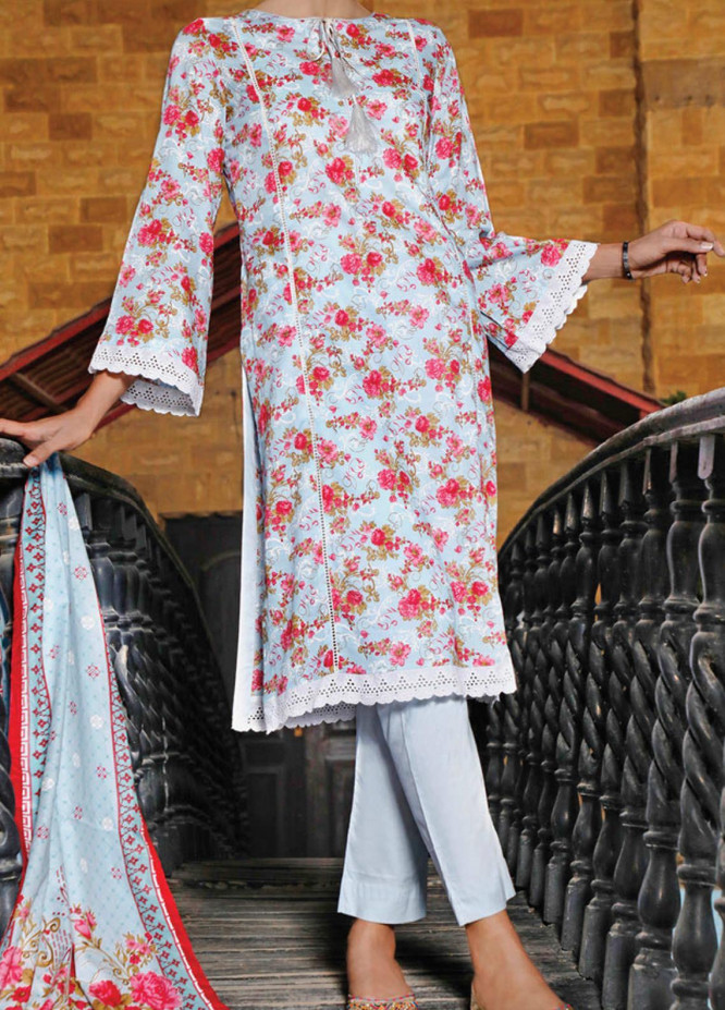 VS Textiles Printed Lawn Suits Unstitched 3 Piece VS21S-2 2615-B - Summer Collection