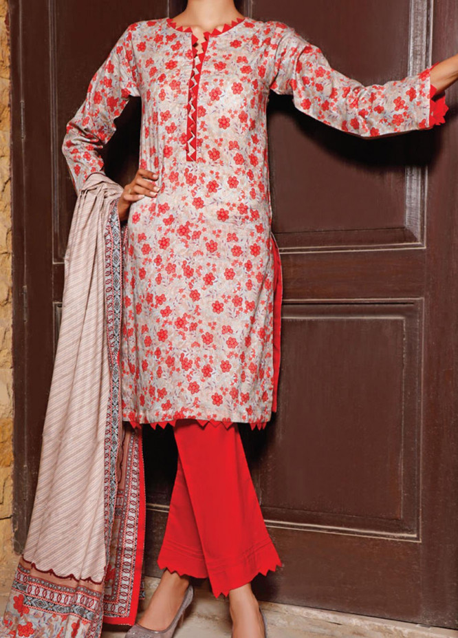 VS Textiles Printed Lawn Suits Unstitched 3 Piece VS21S-2 2616-B - Summer Collection