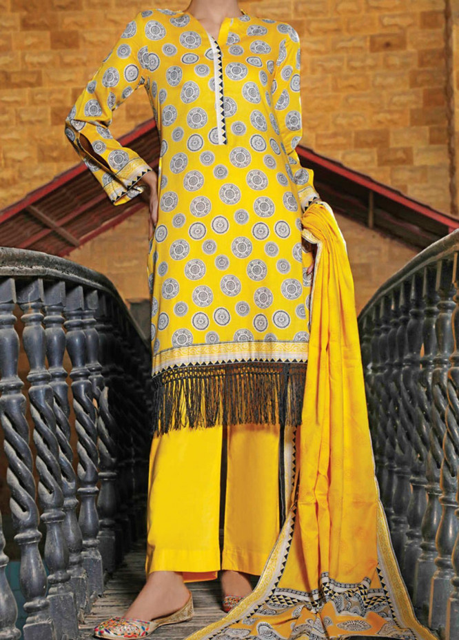 VS Textiles Printed Lawn Suits Unstitched 3 Piece VS21S-2 2619-B - Summer Collection