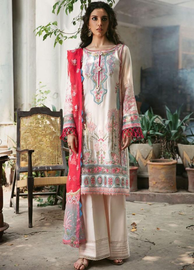 Wasiyat by Motifz Embroidered Cotton Satin Suits Unstitched 3 Piece MT21W MWUA-3023 NAAZ-A - Winter Collection