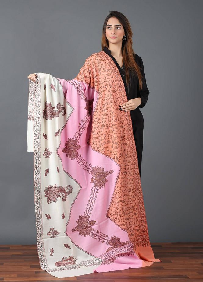 Sanaulla Exclusive Range  Pashmina Embroidered Shawl 642 - Kashmiri Shawls