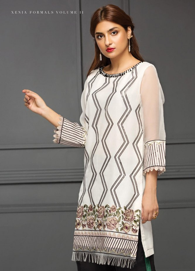 XENIA Formals Embroidered  Stitched Kurtis XE18-P2 06