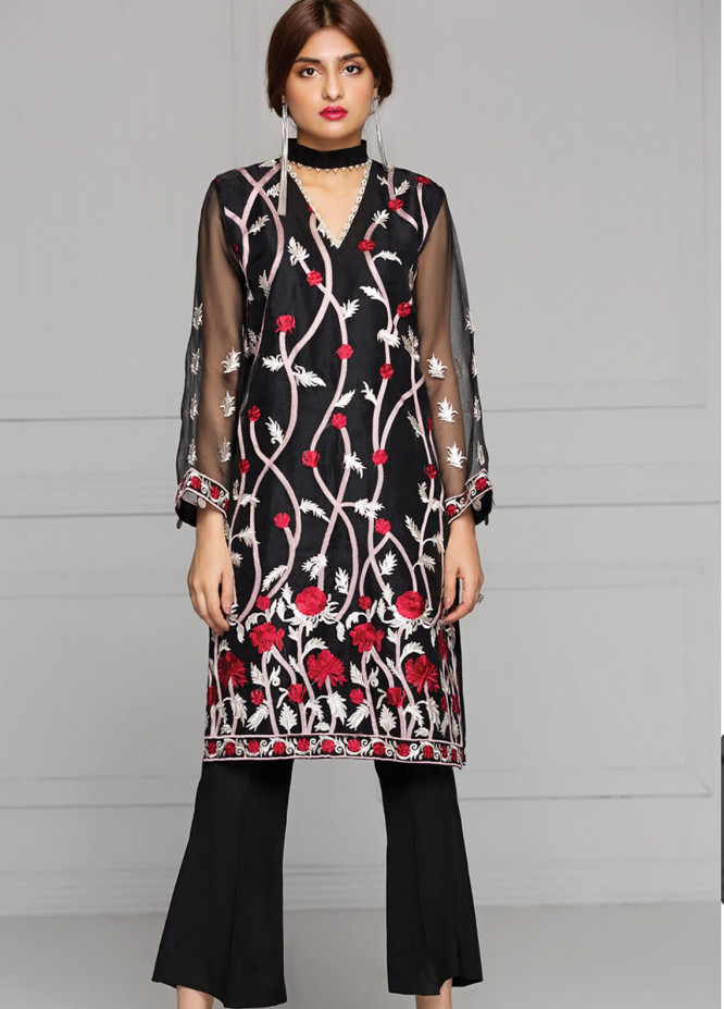 XENIA Formals Embroidered  Stitched Kurtis XE18-P2 10