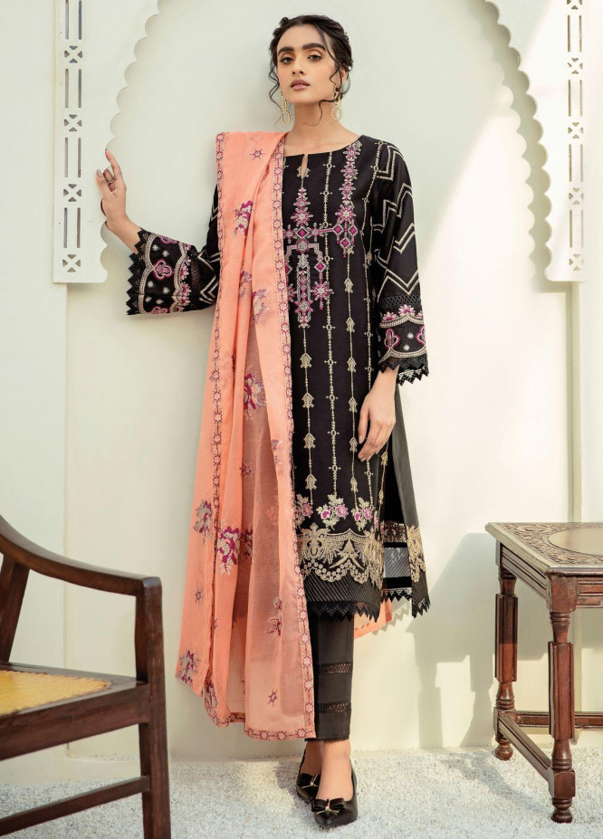 Xenia Formals Embroidered Lawn Suits Unstitched 3 Piece XE21M D-04 NARMIN - Summer Collection