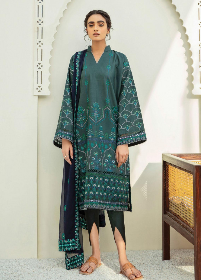 Xenia Formals Embroidered Lawn Suits Unstitched 3 Piece XE21M D-11 MAHUR - Summer Collection