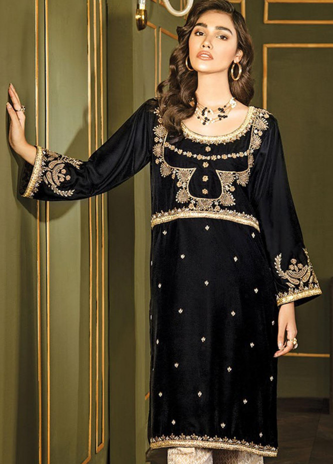 XENIA Formals Embroidered Velvet Stitched 2 Piece Suit XE19WE 1 JARDIN