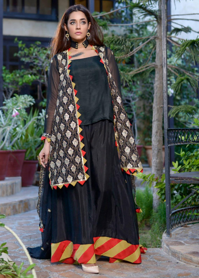 Yasmeen Arif by Al Dawood Textiles Embroidered Chiffon Unstitched 3 Piece Suit AD20YA AD-01 - Festive Collection