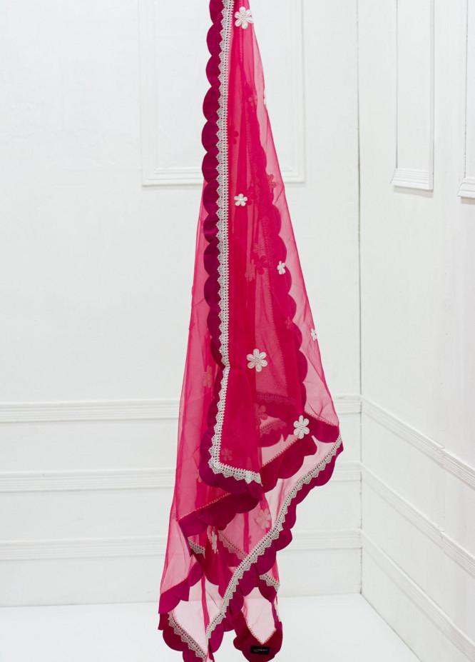 Yusra Ansari Fancy Organza  Dupatta YA20D 01 Solandis - Luxury Collection