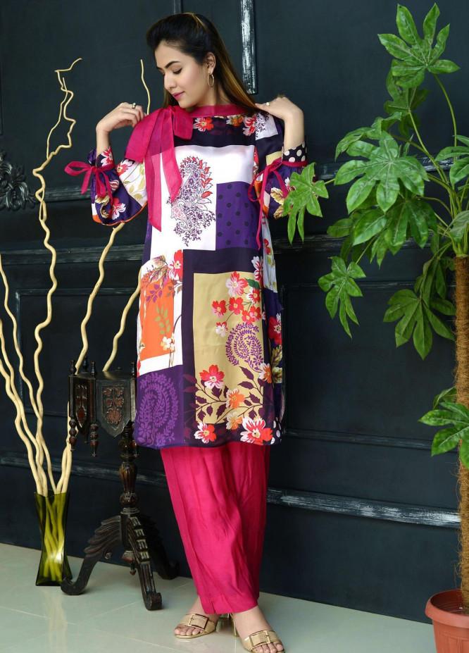 Yusra Ansari Fancy Silk Stitched Kurti YA20EG Yn-06 (Gul-e-Bahar)