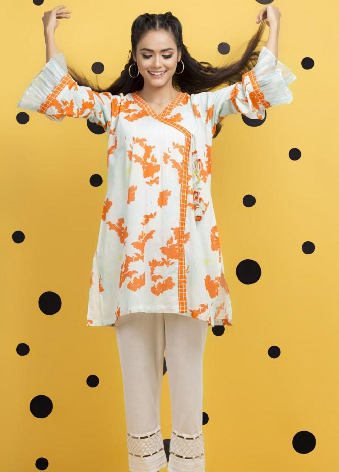 Yusra Ansari Fancy Lawn Stitched Kurti YA20M Ye-01 (Blossom Bliss)