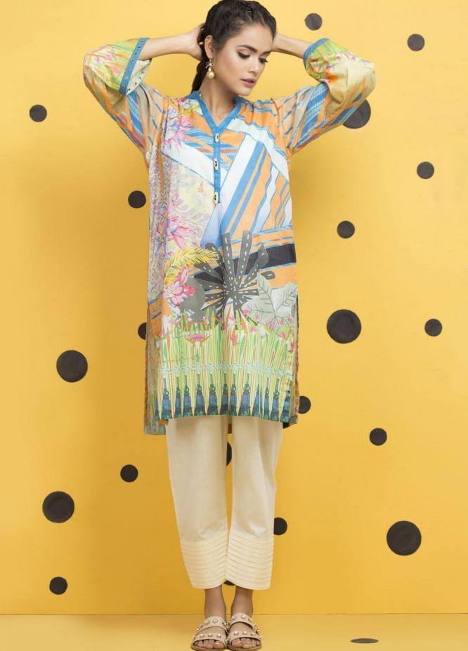 Yusra Ansari Fancy Lawn Stitched Kurti YA20M Ye-04 (Emily Gardenia)