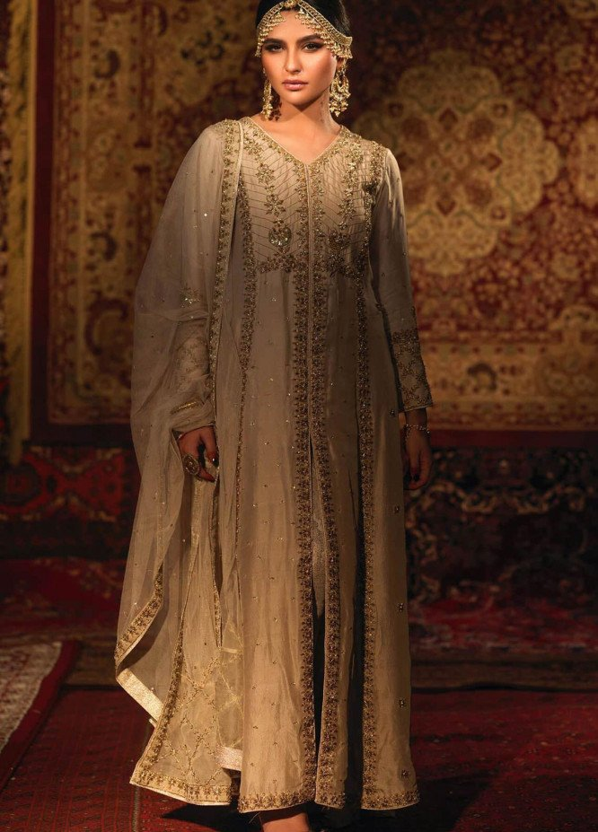 Zaaviay Embroidered Raw Silk Stitched 3 Piece Suit SHIREEN