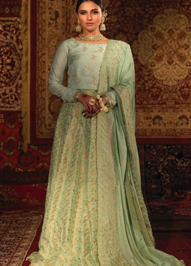 Zaaviay Embroidered Raw Silk Stitched 3 Piece Suit SOHNI