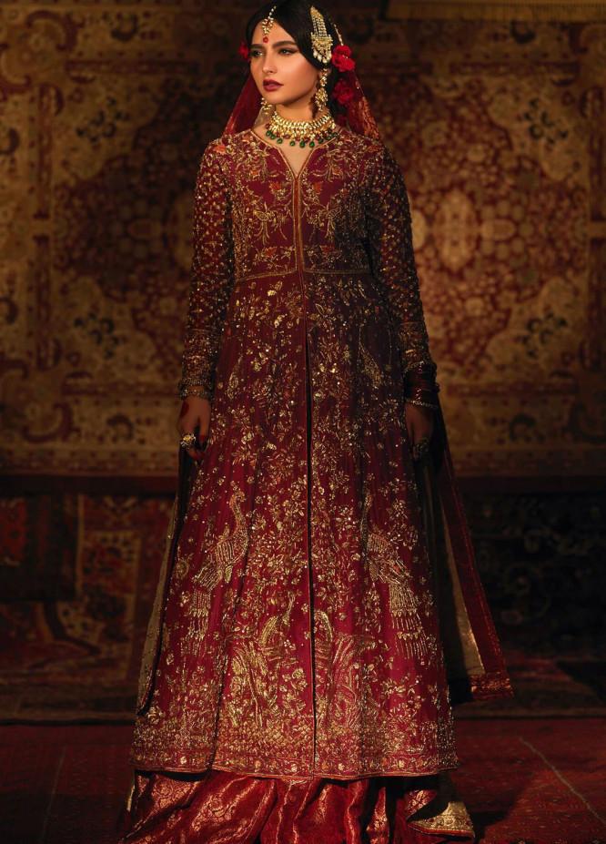 Zaaviay Embroidered Raw Silk Stitched 3 Piece Suit JAHAN ARA