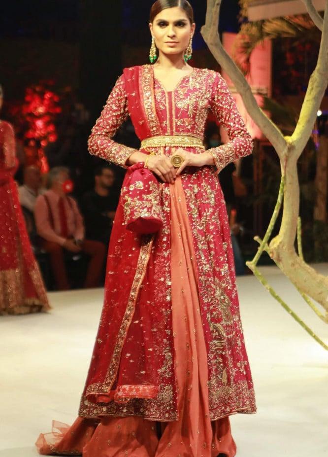 Zaaviay Embroidered Raw Silk Stitched 3 Piece Suit JAHAN ARA B