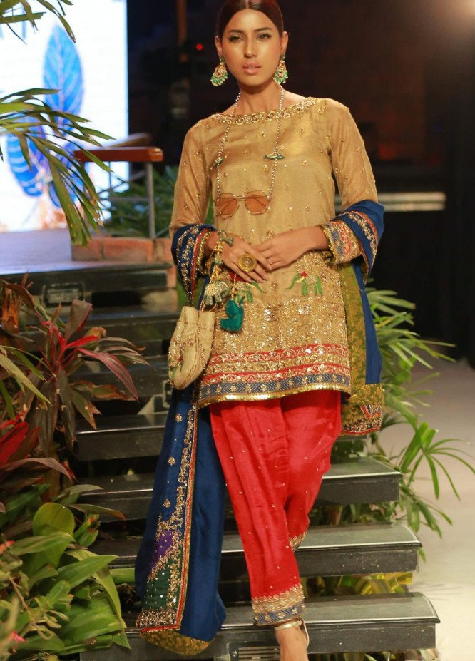 Zaaviay Embroidered Tissue Net Stitched 3 Piece Suit DOLI