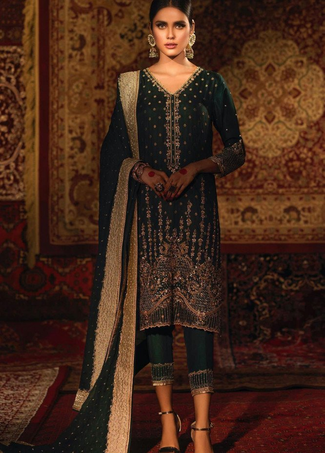 Zaaviay Embroidered Banarsi Stitched 3 Piece Suit TASNEEM