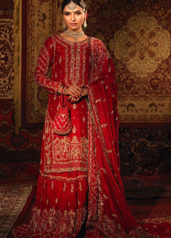 Zaaviay Embroidered Raw Silk Stitched 3 Piece Suit NIGHEDASHT