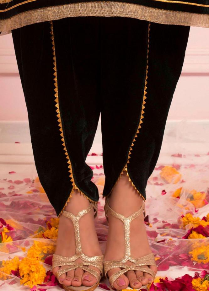 Zaaviay Fancy Velvet Stitched Trousers ZSC-038 VELVET TULIP SHALWAR