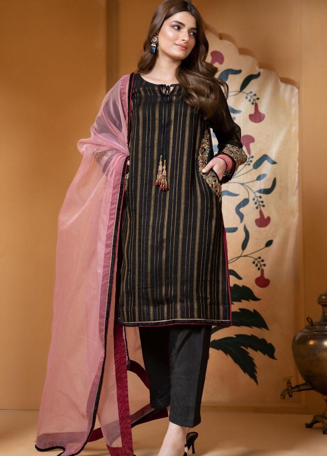 Zaaviay Luxury Pret Embroidered Cotton Net 3 Piece Dress Bansuri