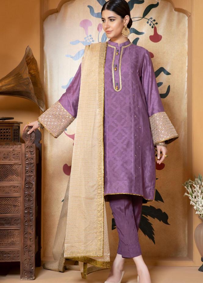 Zaaviay Luxury Pret Embroidered Khaadi Net 3 Piece Dress Mahiwal