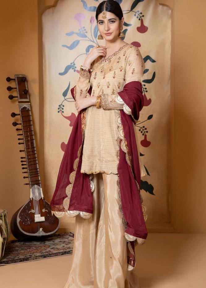 Zaaviay Luxury Pret Embroidered Organza 3 Piece Dress Sohniye