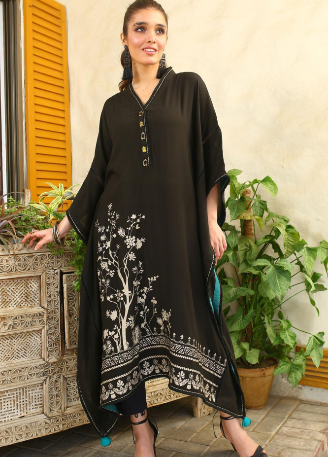 Zaaviay Embroidered Linen Stitched Kurtis Z20WP ZDC-013 FOREST GLOW